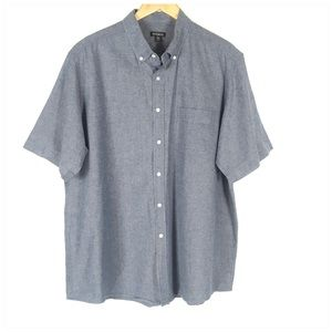 Other - Chambray Mens Short Sleeve Button Down Shirt XL